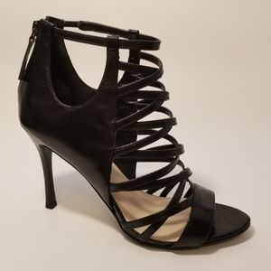 Strappy Leather Zip-up Ankle Straps